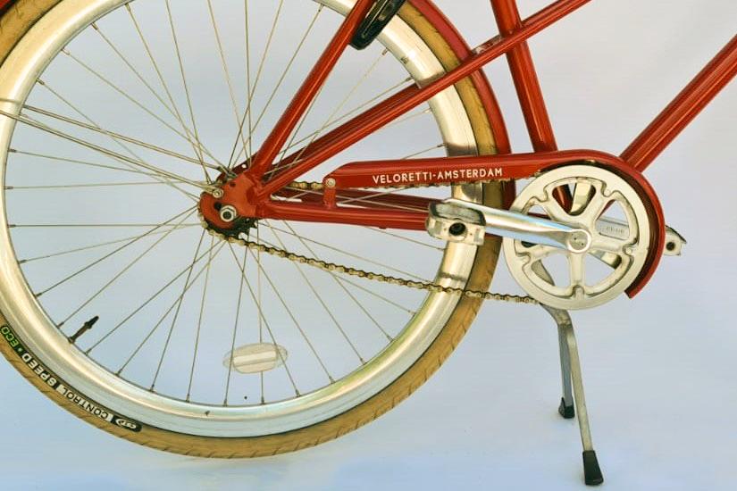 Veloretti caféracer dakota red detailfoto - 2