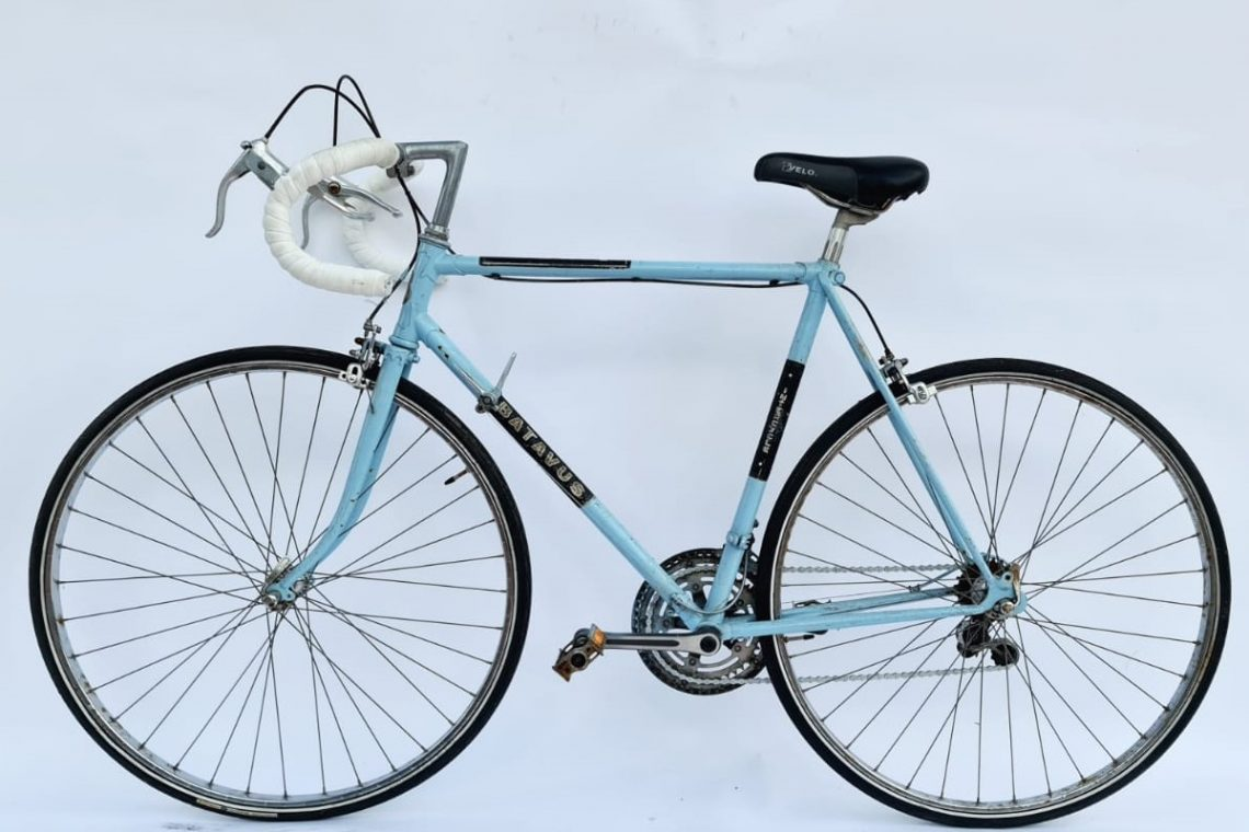 Batavus intercycle vintage racefiets blauw