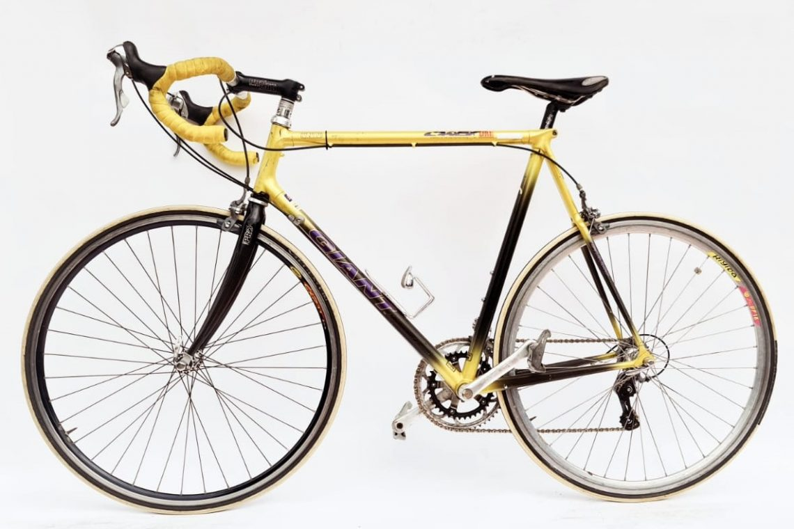 Giant LX race CAASX carbon - geel