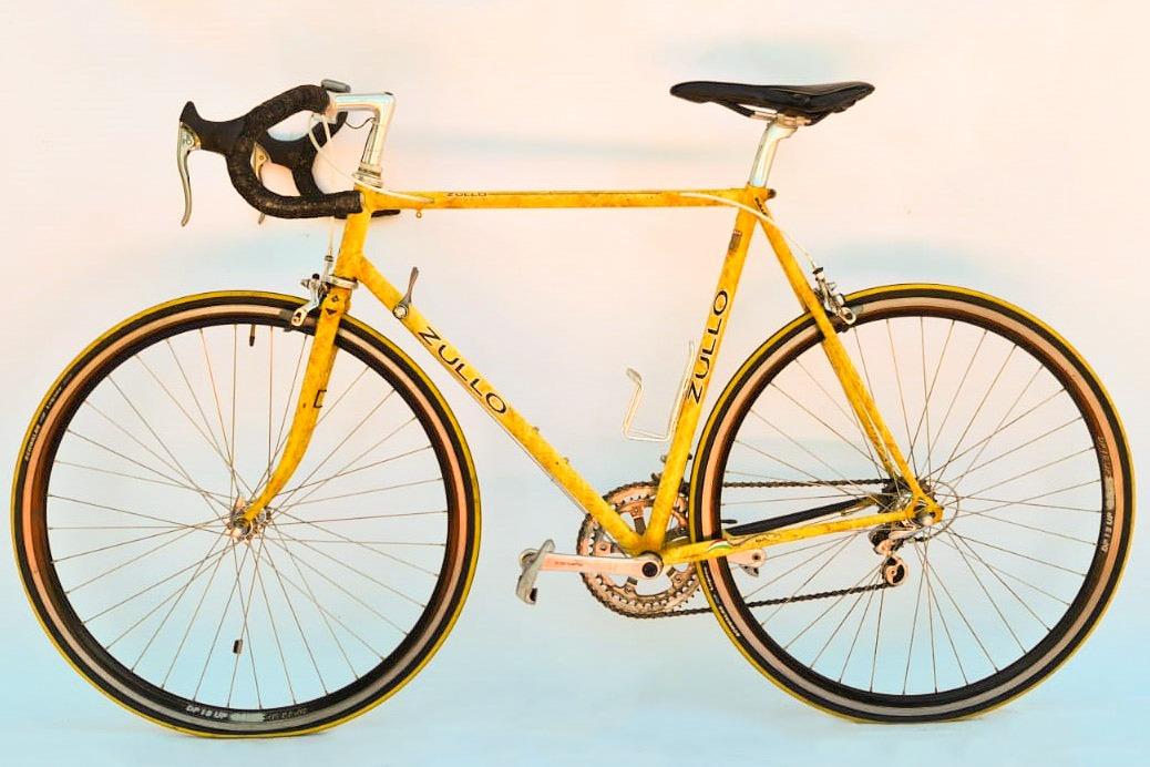 Zullo vintage racefiets - geel
